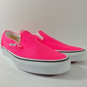 Vans Classic Slip-On Neon Knockout Pink Sneakers